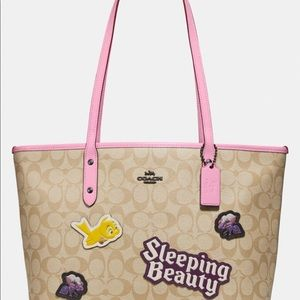 Disney X Coach City Zip Tote sleeping beauty